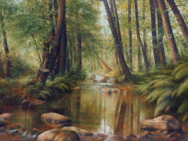 Wall Art - Painting - Transcarpatien Landscape by Arthur Braginsky