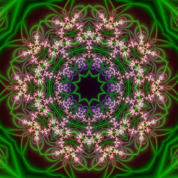 Digital Art - Transition Flower 10 Beats by Robert Thalmeier