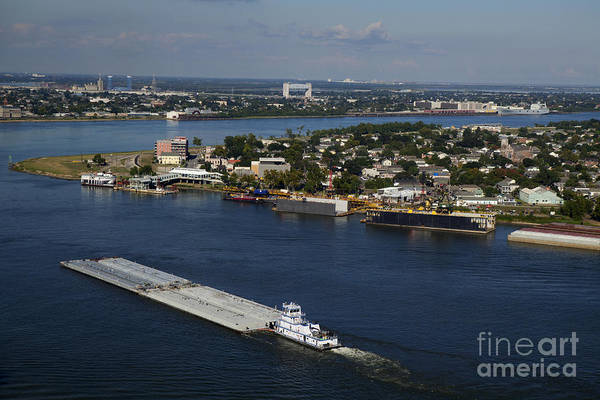 Lower Ninth Ward Photograph - Transportation - Shipping On The Mississippi River by Anthony Totah