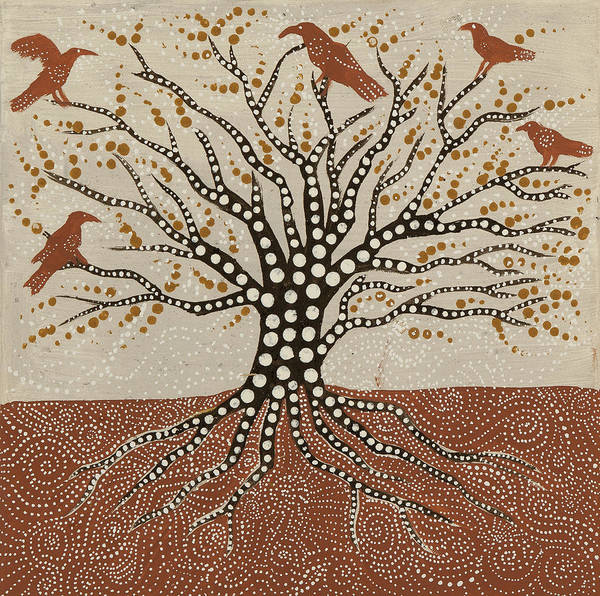Shaman Wall Art - Painting - tree of Life by Sophy White