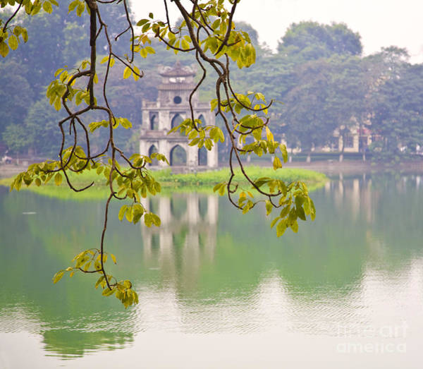Wall Art - Photograph - Tree With View Of Hoan Kiem Lake, Hanoi, Vietnam, Asia by David Buffington