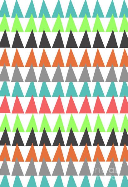 Christmas Tree Digital Art - Triangles by Louisa Knight