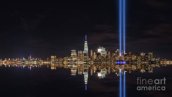 Beam Of Light Photograph - Tribute In Light Reflections  by Michael Ver Sprill