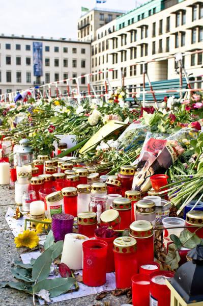 Brandenburg Gate Photograph - Tributes by Tom Gowanlock