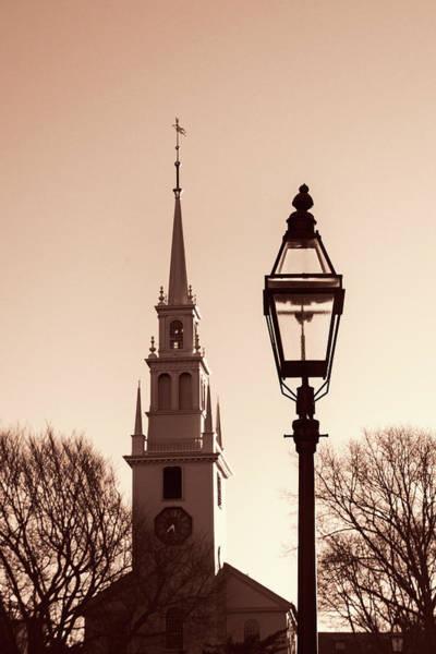 Photograph - Trinity Church Newport With Lamp by Nancy De Flon