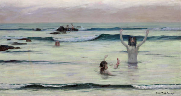 Wall Art - Painting - Tritons by Rupert Bunny