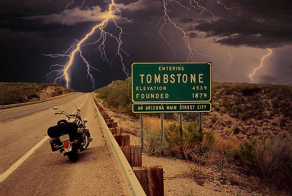 Digital Art - Trouble In Tombstone by Gary Baird