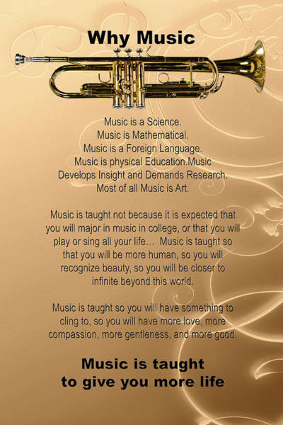 Photograph - Trumpet Why Music For Posters Or T-shirts 4829.02 by M K Miller