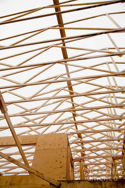 Wall Art - Photograph - Trusses In Home Under Construction by Inti St. Clair