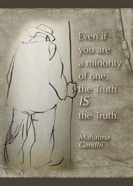 Wall Art - Drawing - Truth Is Truth by Peggy Lipschutz
