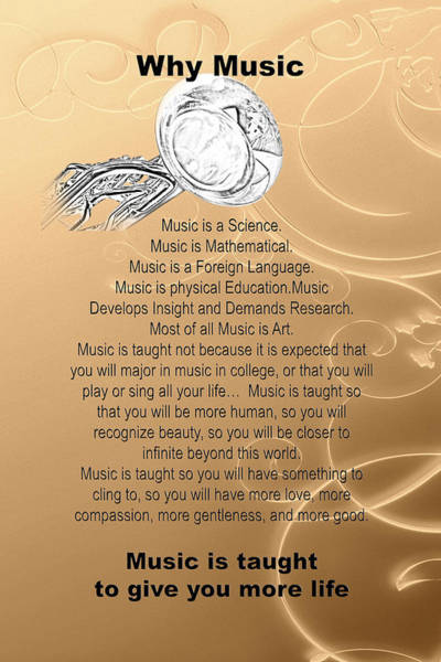 Photograph - Tuba Why Music T-shirts Posters 4830.02 by M K Miller
