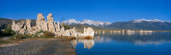 Wall Art - Photograph - Tufa Rock Formations Emerging From Mono by Panoramic Images