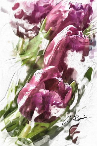 Digital Art - Tulips by Charlie Roman