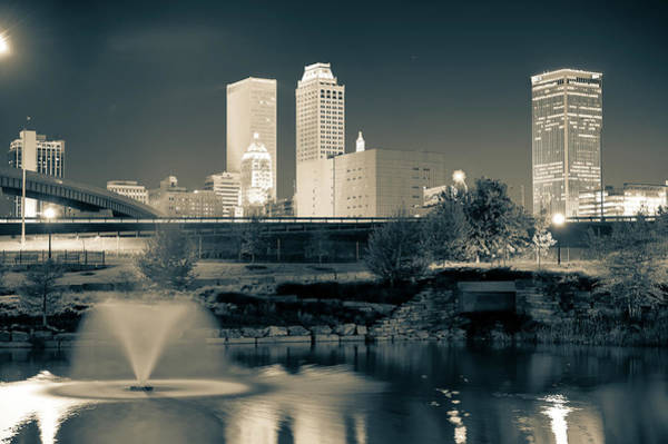 Best Photograph - Tulsa Oklahoma Skyline Black And White by Gregory Ballos