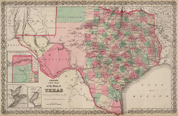 Wall Art - Digital Art - Texas by Colton