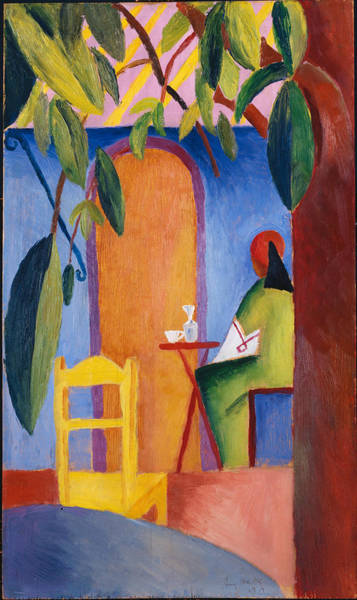 Painting - Turkish Cafe by August Macke