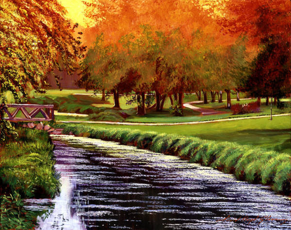 Painting - Twilight Golf by David Lloyd Glover
