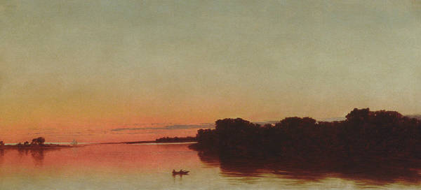 Painting - Twilight On The Sound, Darien, Connecticut by John Frederick Kensett