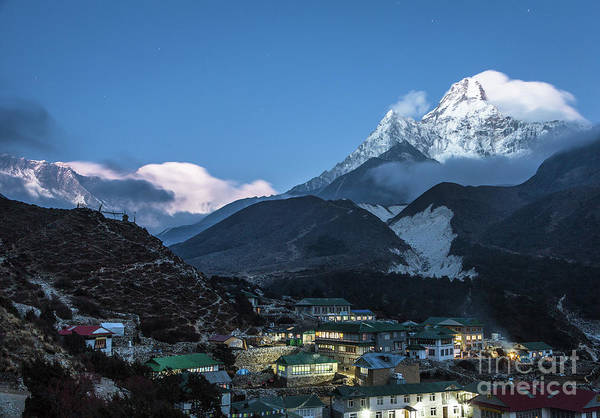 Photograph - Twilight Over Pangboche In Nepal by Didier Marti