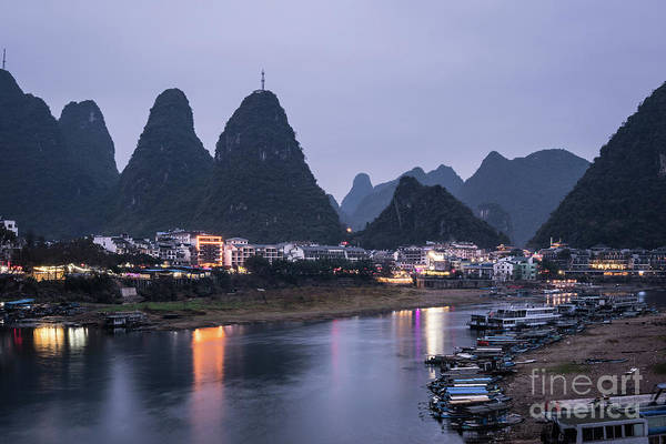 Photograph - Twilight Over The Lijang River In Yangshuo by Didier Marti