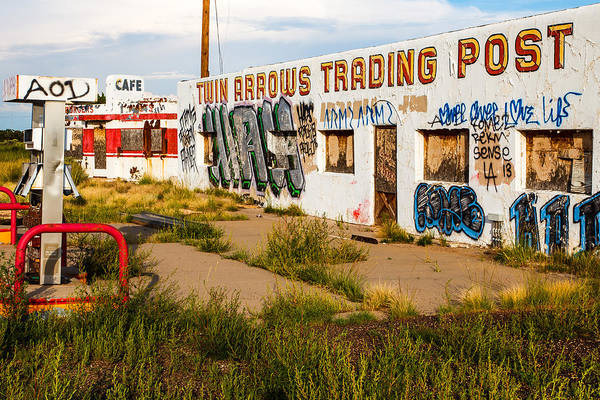 Winona Photograph - Twin Arrows Trading Post  by James Marvin Phelps