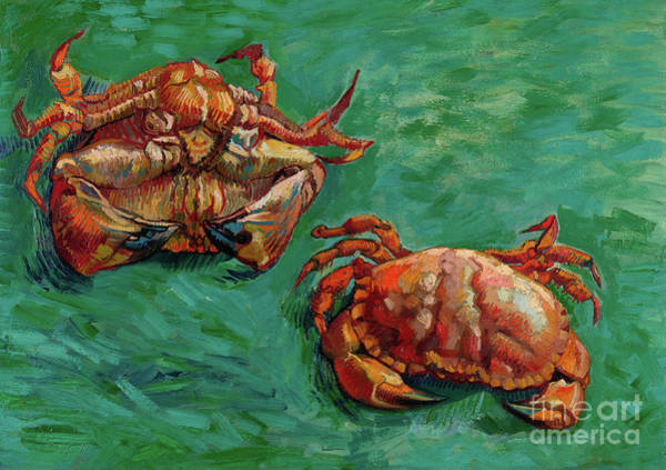 Painting - Two Crabs by Vincent Van Gogh