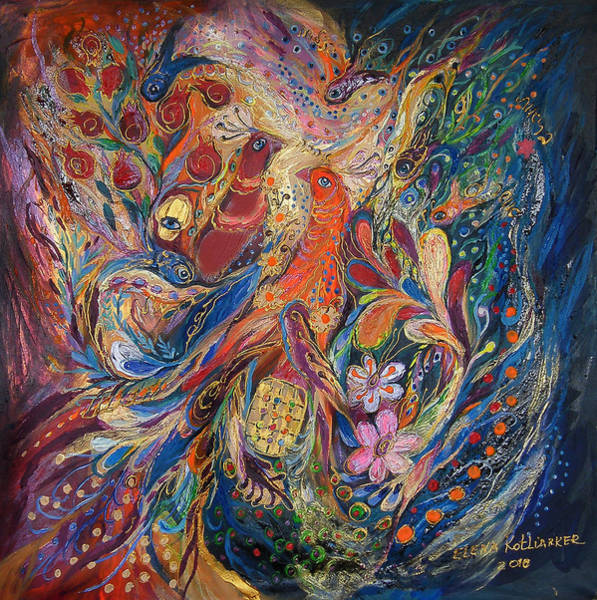 Wall Art - Painting - Two Elements by Elena Kotliarker