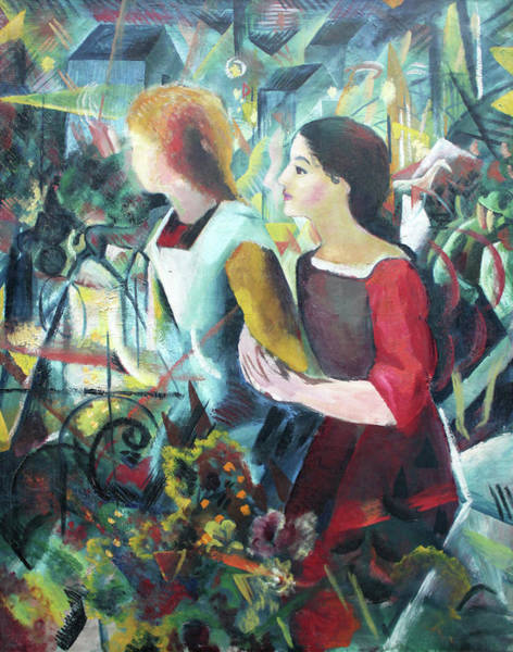 Painting - Two Girls by August Macke