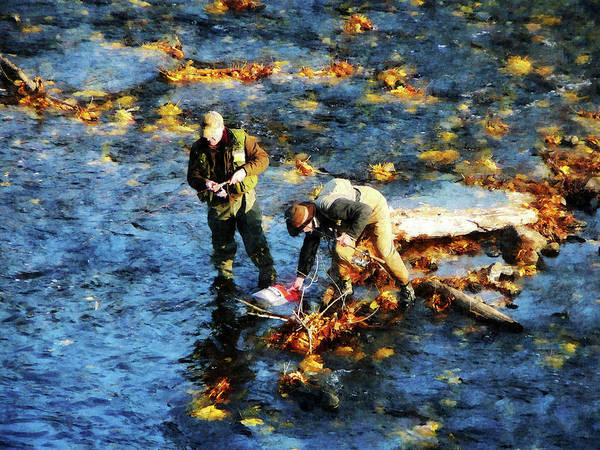 Photograph - Two Men Fishing by Susan Savad