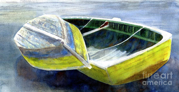 Wall Art - Painting - Two Old Boats On The Beach by Sharon Freeman
