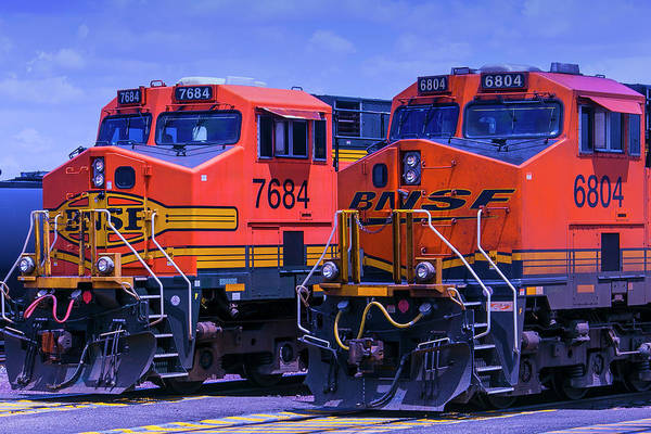 Loco Wall Art - Photograph - Two Trains by Garry Gay