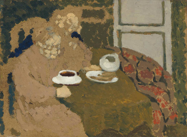 Painting - Two Women Drinking Coffee by Edouard Vuillard