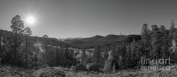 Bear Creek Photograph - Tyndall Creek In The Rocky Mountains Bw  by Michael Ver Sprill