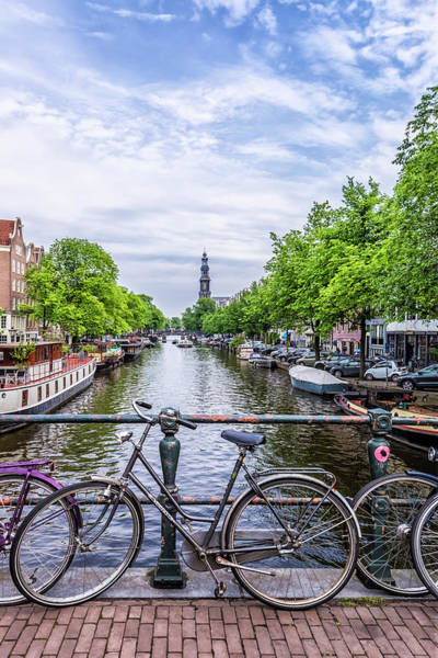 Prinsengracht Photograph - Typical Amsterdam  by Melanie Viola
