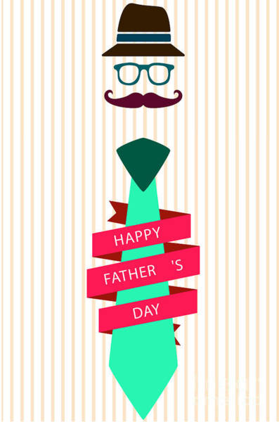 Dad Painting - Typography Poster - Happy Father's Day by Celestial Images