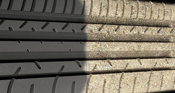 Wall Art - Digital Art - Tyre Tread Morphing To Ground by Allan Swart