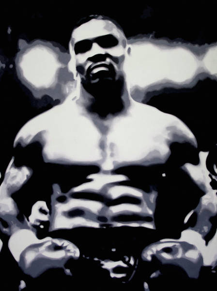 Boxing Painting - Tyson by Luis Ludzska