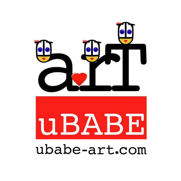 Digital Art - uBABE Label   by Charles Stuart