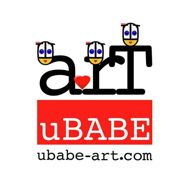 Wall Art - Digital Art - uBABE Label   by Charles Stuart