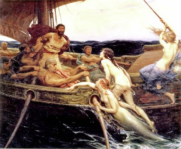 Herbert Draper Painting - Ulysses And The Sirens by Herbert James Draper