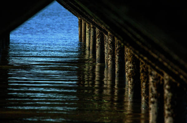 Under The Pier Photograph - Under The Boardwalk by Karol Livote