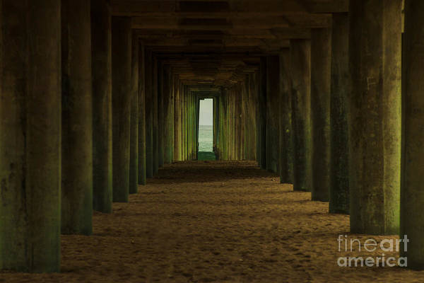 Under The Pier Photograph - Under The Pier  by Art K