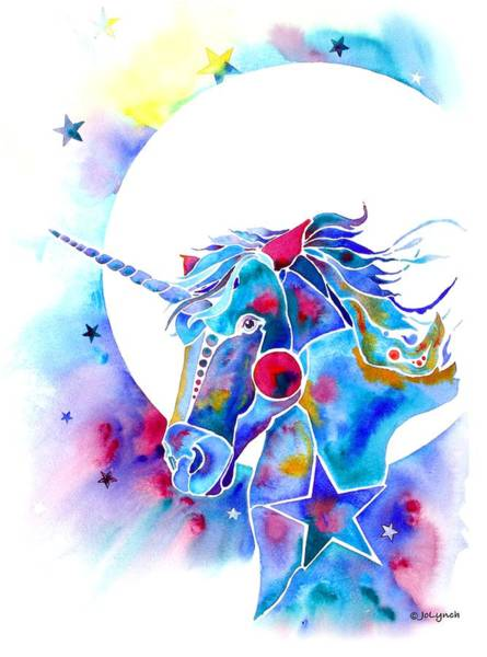 Painting - Unicorn Magic by Jo Lynch