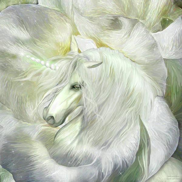 Mixed Media - Unicorn Rose by Carol Cavalaris