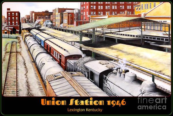 Drawing - Union Station by David Neace