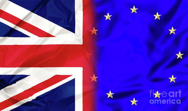 Digital Art - United Kingdom And Europe by Benny Marty