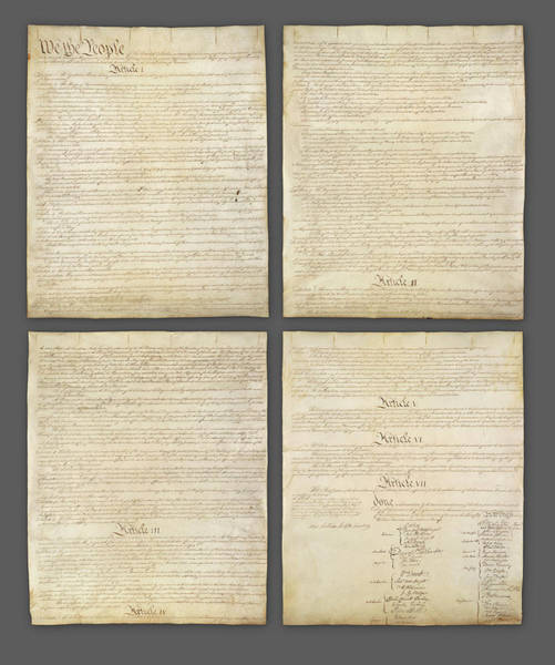 Wall Art - Photograph - United States Constitution, Usa by Panoramic Images