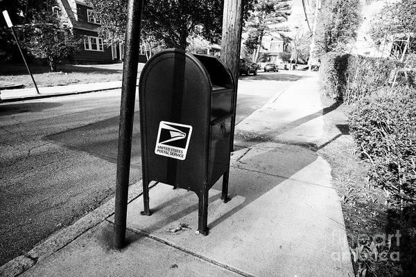 United States Postal Service Photograph - united states postal service mailbox on residential street dorchester Boston USA by Joe Fox