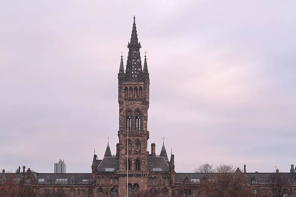 Photograph - University Of Glasgow At Sunrise by Maria Gaellman