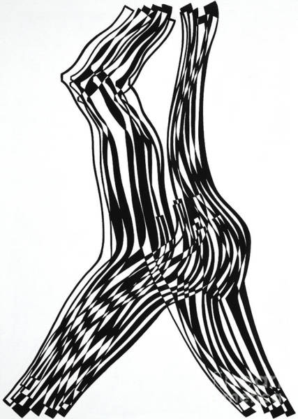 Attractive Drawing - Untitled   Female Nude by Manuel Bennett